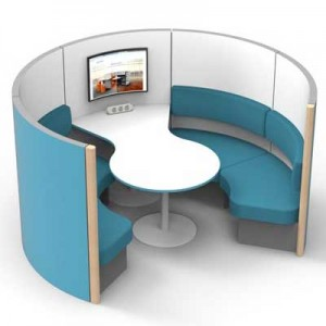 4 Person Group Meeting Pod with Table