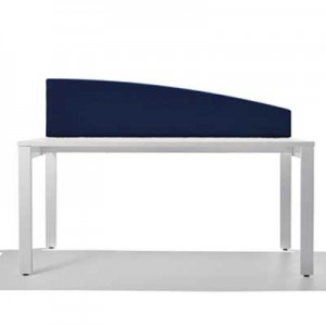 Jump Desk Mounted Curved Top Office Screen in Blue