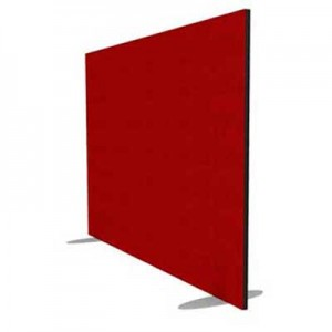 Jump Rectangular Freestanding Office Screen 1200mm High