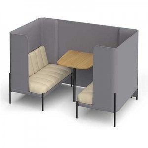 Kastaway 4 Person High Back Seating Booth