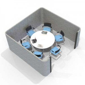 Acoustic Six Person Meeting Pod