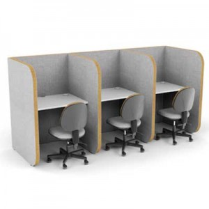High 3 Person Study Booth