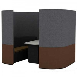 Four Person Curved Work Booth