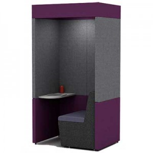 Single Person Work Booth 800mm Deep with Roof