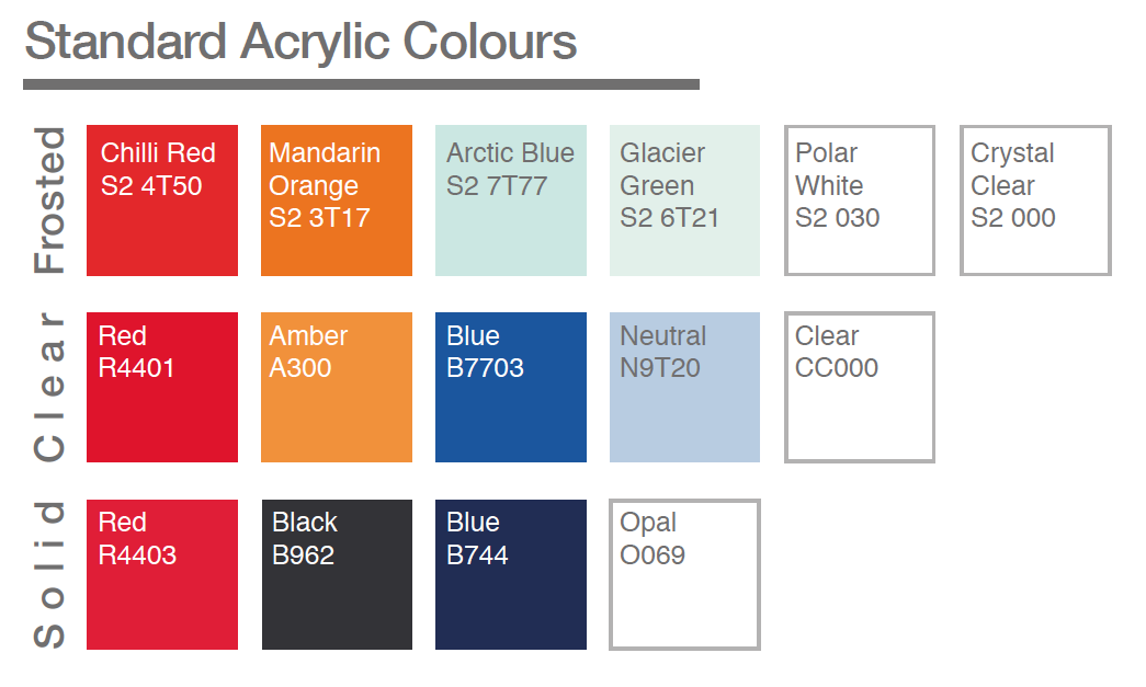 Office Screen Acrylic colours