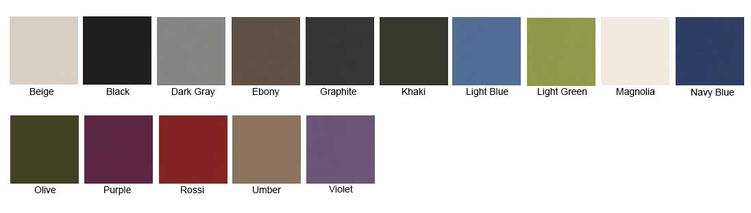 Hush Pods Mura Colour Chart