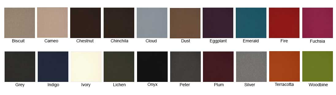 Hush Pods Wool Colour Chart