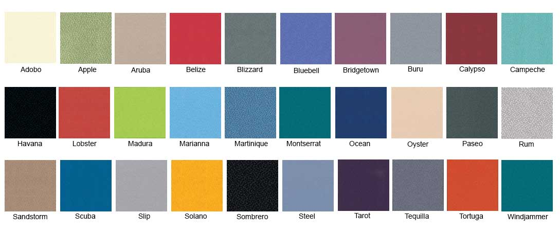 Camira Lucia Colour chart for Study Booths