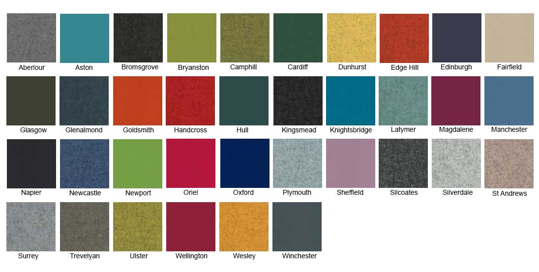 Camira Blazer Fabric colour chart