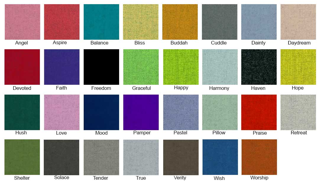 Camira Blazer Lite Fabric colour chart