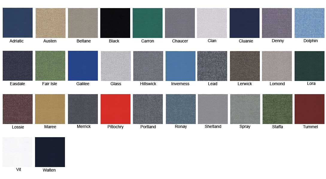 Camira Cara Colour Chart