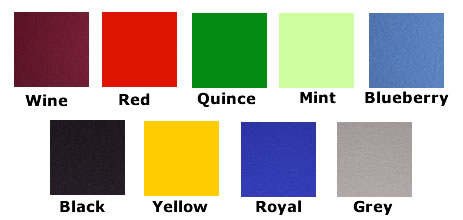 Nyloop fabric Colour chart for Concertina Folding screens