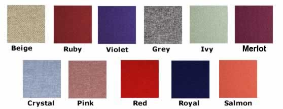 Woolmix Colour chart for Concertina Folding screens