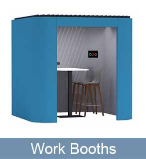 Work Booths for meetings and private working spaces in the office